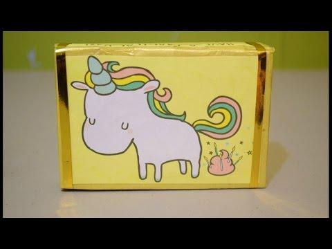 Cajita para regalar de unicornio 🦄