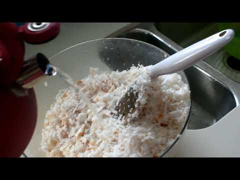 Making haupia (coconut pudding) from scratch with arrowroot powder