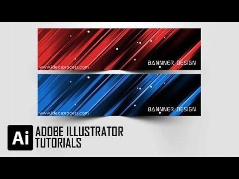 Adobe Illustrator Tutorial Creating Elegant Background Banner #FreeDownload