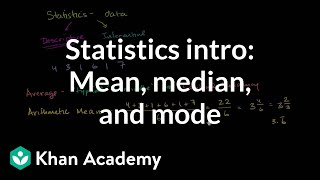Statistics Intro Mean Median And Mode Data And Statistics 6th Grade K