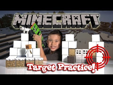 MINECRAFT Papercraft SNOW BIOME - Target Practice Unboxing!