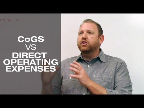 CoGS vs Direct Operating Expenses
