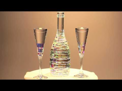 Bella Champagne Collection Set- Glass Sculpture by Jack Storms