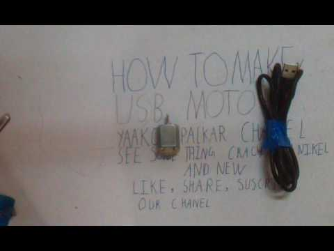 How to make USB motor , blender , fan and vibrater