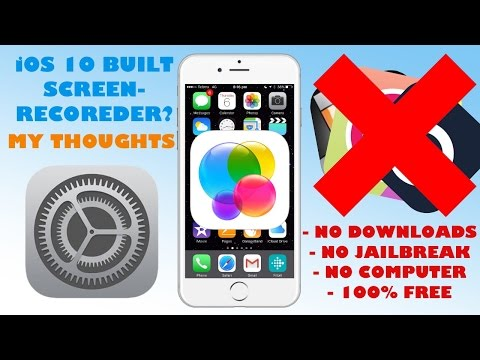 iOS 10 BUILT IN SCREEN-RECORDER?? | My Thoughts