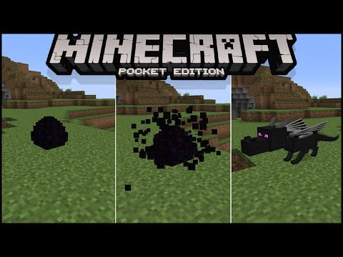 How to Hatch Ender Dragon Egg in Minecraft pe 1.0 | how to summon ender dragon in minecraft pe