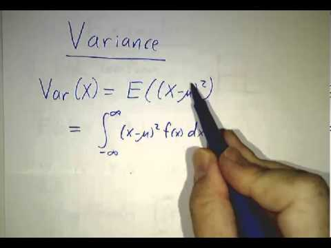 Means, Variance and Standard Deviations