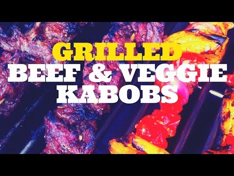 Grilled Beef and Vegetable Kabobs on the Weber Genesis Gas Grill
