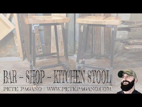 Reclaimed Wood + Steel Bar | Shop | Kitchen Stool Build