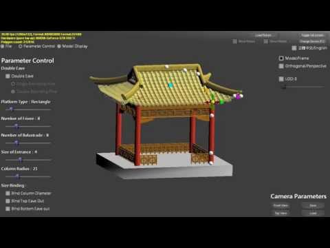 Chinese Featured Architecture Modeling - Gable-and-Hip roof