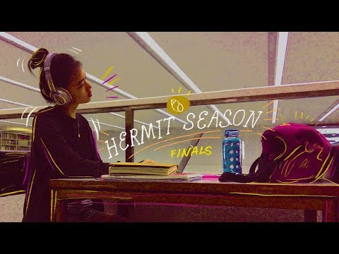 FINALS: HERMIT SEASON 🐚🦀 (a vlog)   clahrah