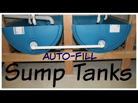 Sump Tanks with Auto-fill - How low can you go?