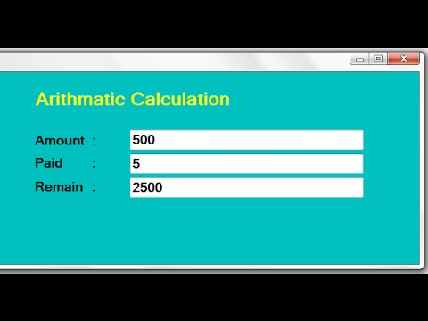 C# Code for Arithmetic Calculation Using TextBox in .net