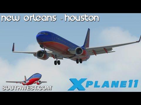 [XPlane 11] New Orleans - Houston | LIVE STREAM! (PART 1)