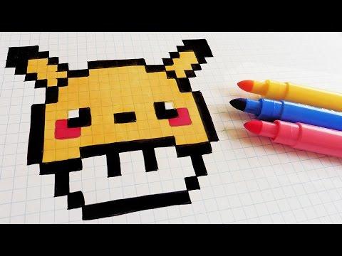 Handmade Pixel Art How To Draw Pikachu Mushroom Pakvim