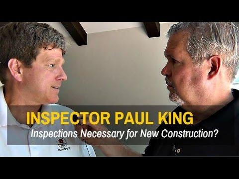 Inspector Paul King Reviews Home Inspection on New Construction