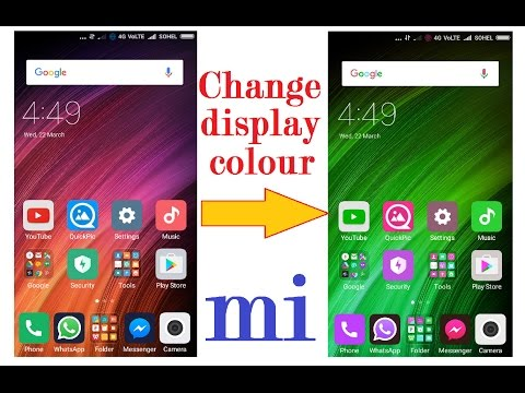 change display color of your mobile   tips and tricks in HINDI/URDU