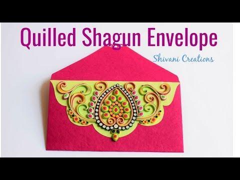 Quilling Shagun Envelope/ Ornamental Quilling/ Quilled Envelope Decoration