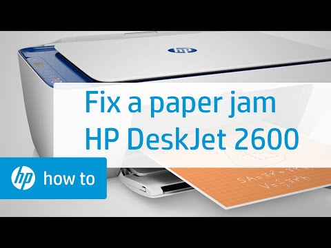 How To Fix a Paper Jam on the HP DeskJet 2600 All-in-One Printer Series