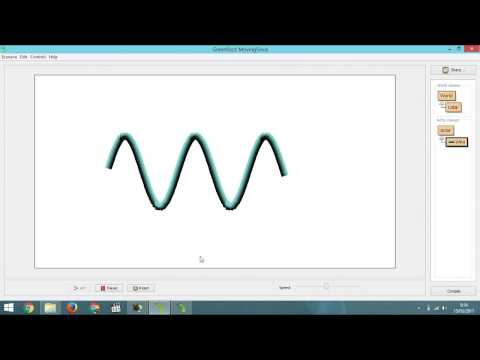 How to Make Animated Movement Sinus Curve with Greenfoot