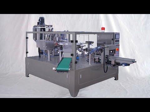 paste liquid packing MC bags-given feeding fill seal set Beutelfüllmaschinen rotierenden Typ