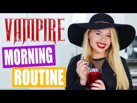 Teenage Vampire Morning Routine