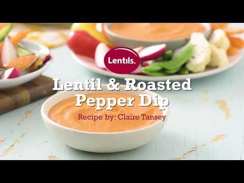Lentil & Roasted Pepper Dip