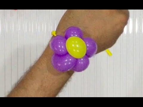 Balloon flower wristband bracelet - Balloon twisting tutorial