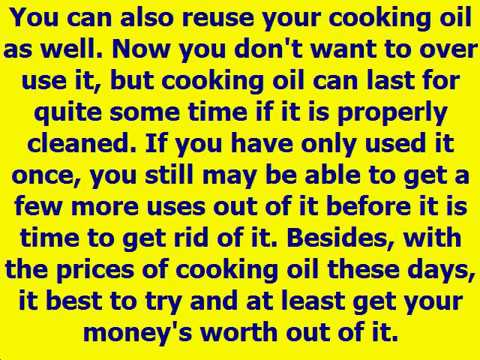 Creative Tips on How to Get Rid of Used Cooking Oil