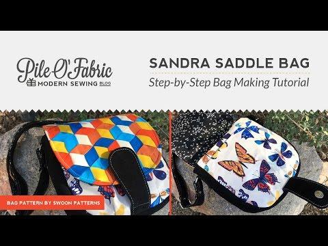 Sandra Saddle Bag //Step-by-Step Bag Making Tutorial
