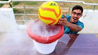 Can We Freeze a Football With Liquid Nitrogen? ऐसा तो मैंने भी नहीं सोचा था |