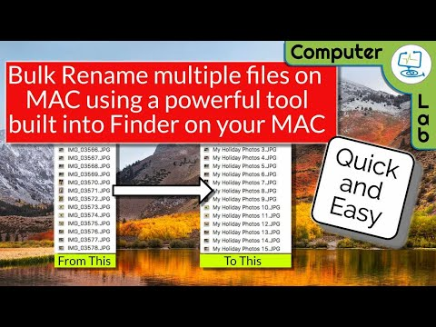 How to Rename Multiple files on Mac.