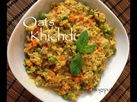 Vegetable Masala Oats Khichdi Recipe