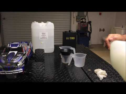 Making your own nitro fuel for RC motors.(video 2)