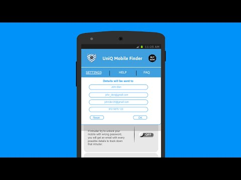 Find your lost or stolen android phone using UniQ Mobile Finder-Anti Theft