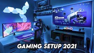 Gaming Setup / Room Tour! - 2021 - Ultimate Small Room Setup!
