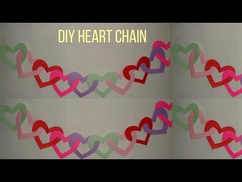 Paper Craft: paper hearts chain. paper craft ideas.