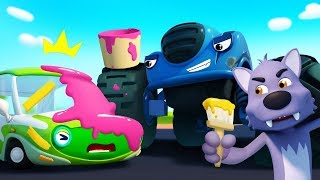 Monster Police Car Chases Trouble Maker | Police Cartoon | Nursery Rhymes | Kids Songs | BabyBus
