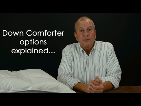 Vero's Down Comforter options explained...