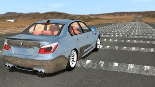 100+ Consecutive Speed Bumps High Speed Testing #3 - BeamNG DRIVE