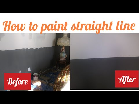 How to paint straight lines on a textured wall-Tutorial