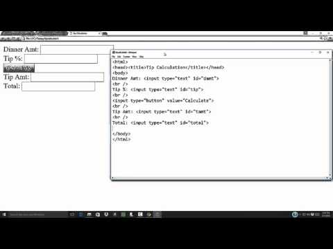 Introduction to Computer Science - HTML/JavaScript - Tip Calculation Example