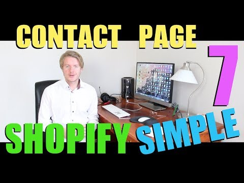 Shopify Simple Theme Tutorial (Part 7) - How to Add Contact Us Page on Shopify 2018