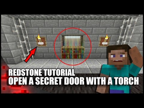How To Open A Secret Door With A Torch In Minecraft!