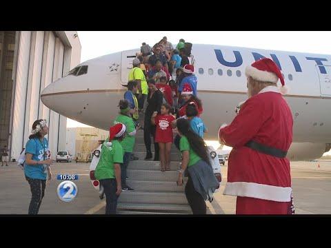 Keiki take holiday-themed fantasy flight to meet Santa on 'Christmas island'