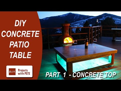 Part 1. How to make a Concrete Coffee Table for the Patio (Concrete Top)
