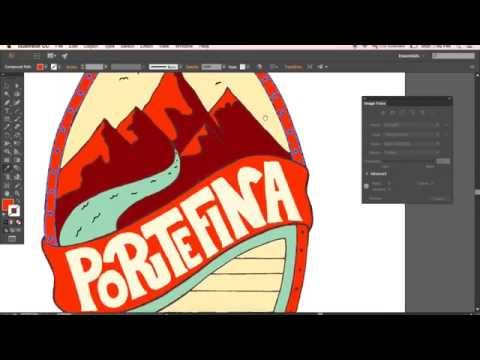 Hand-Lettering Tutorial: Funky Beer Label - Colouring Process