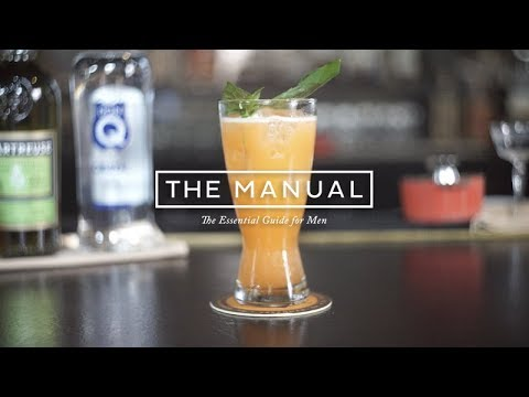 How To Make A Through The Garden Cocktail - A Fresh Rum Drink