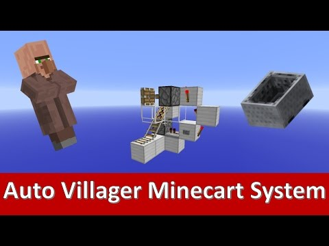 How to Put Villagers/Mobs into a Minecart 1.9+ [Redstone Tutorial]