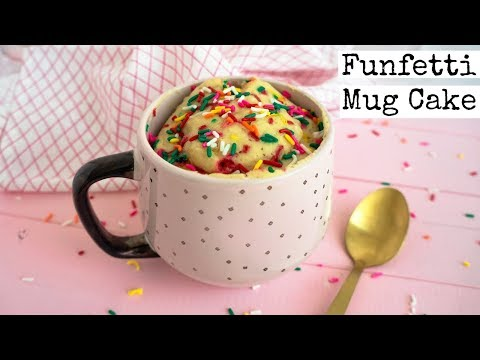 Funfetti Mug Cake   Vegan Valentine's Day